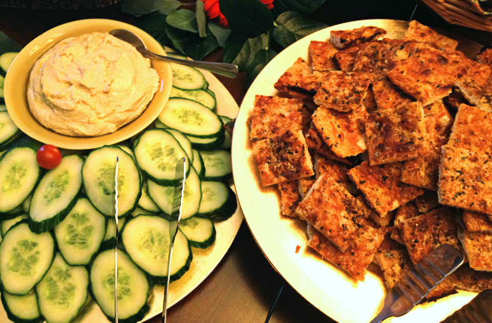 Cucumbers, Flatbread
